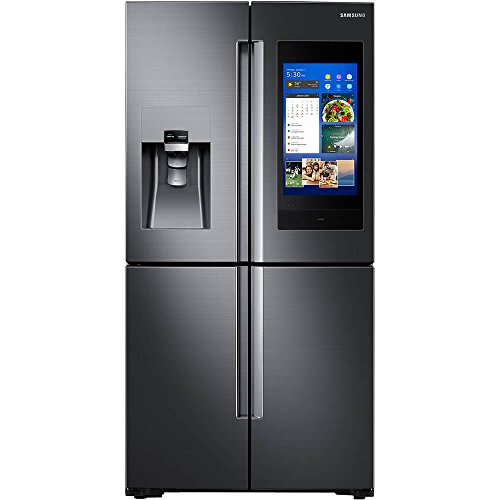 Samsung Fingerprint Resistant Black Stainless 4-Door Flex French Door Refrigerator With Family Hub