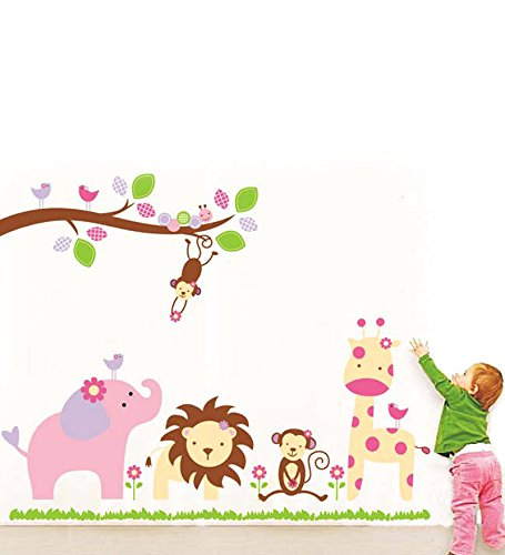 Decals Design 'Baby Cartoon Animal Kingdom Kids' Wall Sticker