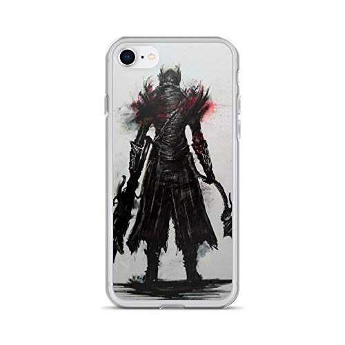 iPhone 7/8 Case Anti-Scratch Gamer Video Game Transparent Cases Cover Bloodborne Gaming Computer Crystal Clear