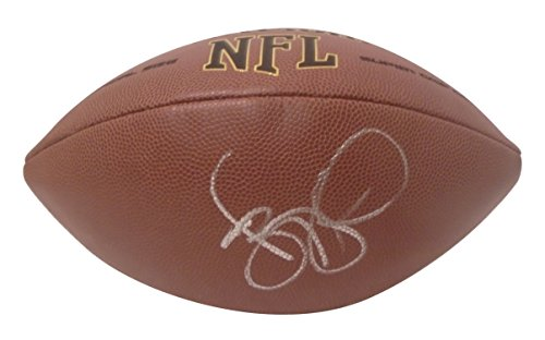 (Pittsburgh Steelers Jerome Bettis Autographed Hand Signed NFL Wilson Football with Proof Photo of Signing, Los Angeles Rams, Notre Dame Fighting Irish, COA )