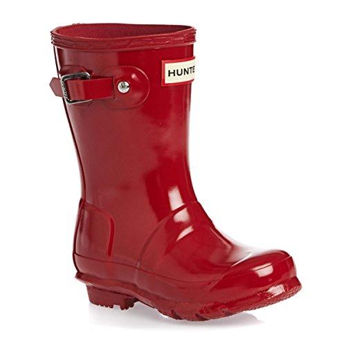 Hunter Original Kleinkind Military Rot Gloss Gummistiefel-UK 11 Kinder