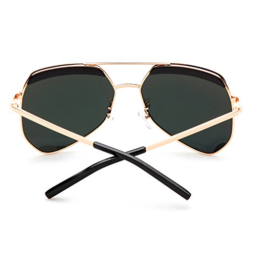 Gafas de Moda Blue Color Yellow Calle UV400 Sapphire green Clásicas Moda la polarizadas 64mm de sol 0OwqYr0