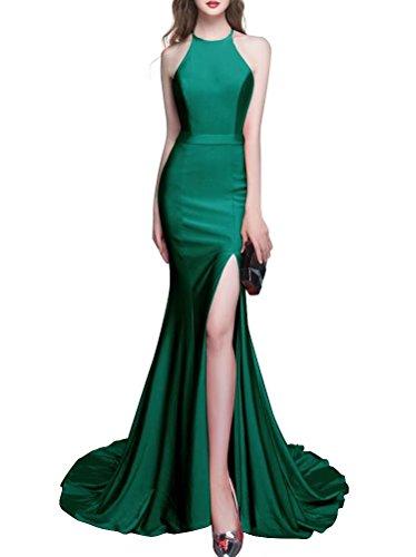 Capestro Colore Verde Affascinante Sera Sirena Partito Donne Da Ainidress Della Lungo Scuro Delle Promenade Di Abiti Vestito Da Zpq11nwvxa
