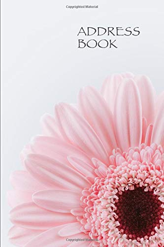 Pdf Parenting Address Book. Pink Flower Floral Cover Design.