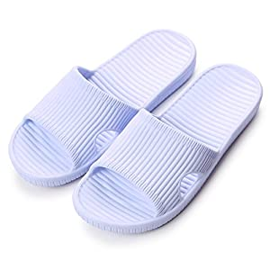 "Maizun Slippers Non-Slip Shower Sandals House Indoor Floor Slipper Slide Bath Shoes For Adult Couples (7-8 US/9.65"" Foot, 39-40, Blue)"
