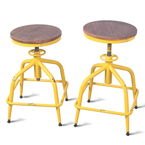 Topower Farmhouse Kitchen Stool, Industrial Counter Stool,French ...
