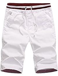 Mens Casual Shorts Drawstring Slim Fit Shorts for Men
