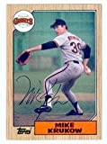 Mike Krukow autographed Baseball Card (San Francisco Giants) 1987 Topps #580 (Ball Point Pen) - MLB Autographed Baseball Cards