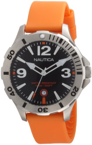 Nautica Men's N11544G BFD 101 Diver Black Dial Watch
