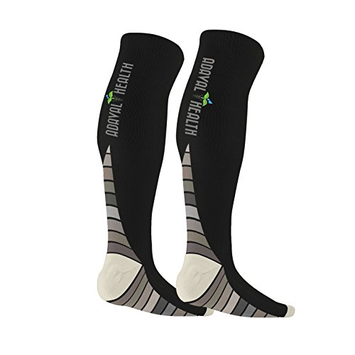 Compression Socks Knee Highs Graduated Support Athletic R...