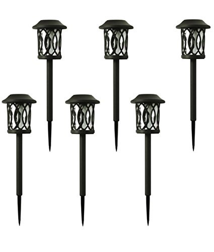 Hampton Bay Solar Bronze Outdoor Integrated LED 3000K 6-Lumens Landscape Pathway Light (6-Pack) by Hampton Bay