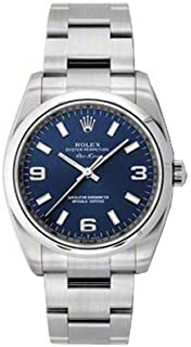 8b9ba48945d New Rolex Air King Blue Arabic Dial Stainless Steel Mens Watch 114200 BLAO