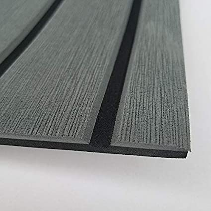 Amazon Com Soomj Marine Flooring For Boats Eva Faux Teak Decking Sheet For Boat Yacht Non Slip Decking Self Adhesive Dark Gray With Black Lines Sports Outdoors