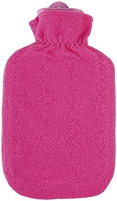 Fleecebezug Kunterbunt candypink mit 2l Wärmflasche