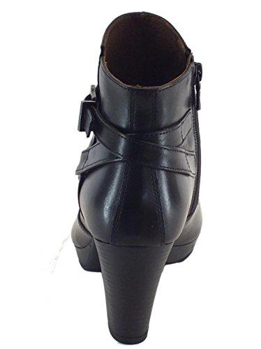9 9 Stivaletti cm cm Nero Nero da 719111 Tacco Donna Giardini in Pelle EEqF0v