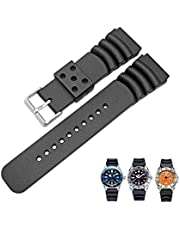 Arashen Rubber Curved Line Watch Band 20mm 22mm 24mm Watches Replacement SKX Divers Tuna Ocean Ripples