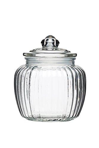 Kitchen Craft Home Made Medium Glass Storage Jar, 1.4 Litres (2.5 Pints) - Clear