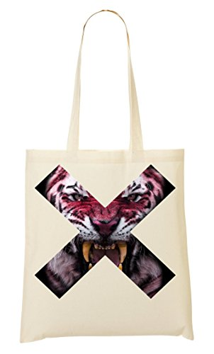 De Dangerous Nice T You Crazy Tiger Next Canines Bolso Compra Collection Scary To Bolsa Popular Animals Creature X Eyes Shirt Super Head De Cool Mano La 50qgqr