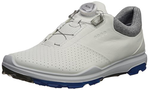 ECCO Men's Biom Hybrid 3 BOA Gore-Tex Golf Shoe, White/Dynasty Yak Leather, 9 M US (Best Support Golf Shoes)
