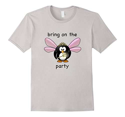 BRING ON THE PARTY FAIRY PENGUIN fun tee shirt - Male XL ...