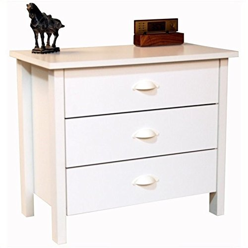 White 3 Drawer Dresser - 9