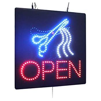 Amazon.com: Letrero LED de neón abierto, tablero de anuncios ...