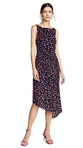 Diane von Furstenberg Women's Maia Dress, Swirling Berry Black, ()