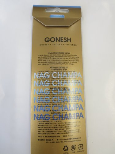 Gonesh Incense Sticks Frankincense/sandalwood/nag Champa (80 Sticks Each) 240 Sticks Total