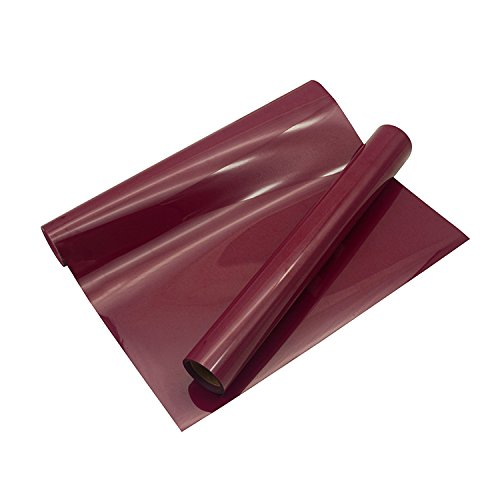 HTV 10x5FT Maroon Heat Transfer Vinyl Roll for for T Shirts Garments Bags and Other Fabrics
