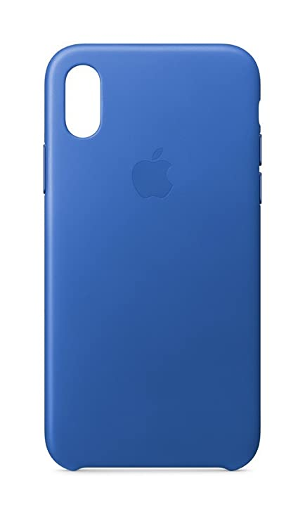 best cheap 1b20c 0d496 Apple MRGG2ZM/A Leather Case for iPhone X - Electric: Amazon.co.uk ...