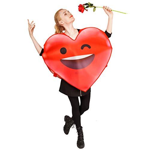 DSplay Adult Unisex Emoticon Costumes OneSize (Smile Heart)