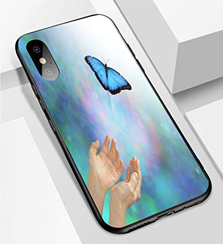 iPhone X/XS Ultra-Thin Phone case Releasing a Soul Into The Light Buttefly Metaphor Anti-Drop Anti-Slip Soft Convenient Protective Shell