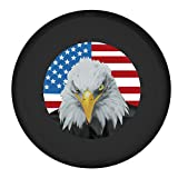spare wheel cover for crv - Moonet American Flag Eagle Head Spare Tire Wheel Cover Car Truck SUV Camper Fits JEEP WRANGLER CRV FJ RAV4 H2 H3 land rover Discovery EcoSport Outlander Grand Vitara R16 L (Diameter:79cm/31.1inch)
