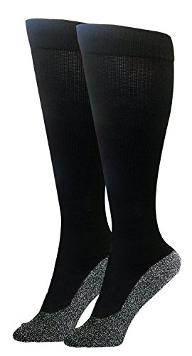 35 Below Compression Socks 1 pair in Black; Size Large - 2-IN-1...