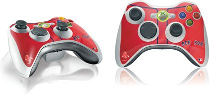 (MLB Boston Red Sox Xbox 360 Wireless Controller Skin - Boston Red Sox Alternate/Away Jersey Vinyl Decal Skin For Your Xbox 360 Wireless Controller)