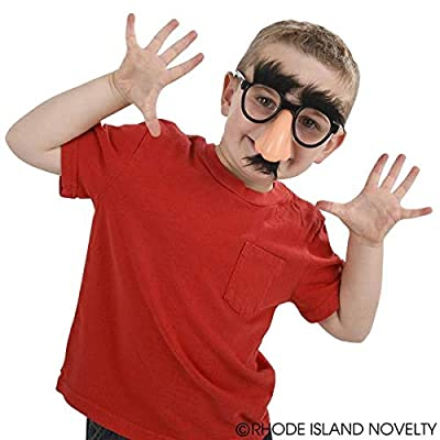 Novelty Groucho Marx Costume Funny Glasses Nose Mustache Party Favor - 2: Toys & Games