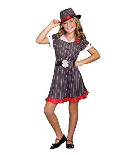 SugarSugar Girls Ally Capone Costume, One Color, Large, One Color, (Gangster Costume For Girls)