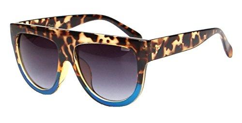 Qissy Femmes Designer Unisex erres Teintés UV400 Classique Lunettes de soleil en Oversize Lunettes Club master (C) CzA4odPv3
