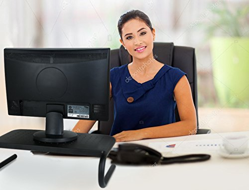 U-shaped Unit Pedestal (Monitor Riser Stand Computer Laptop Raiser I Printer Shelf for Desk I Desktop Home Office Table Organizer)