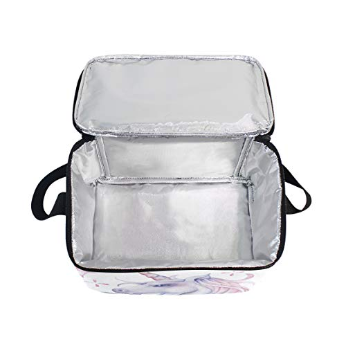 for The Lunchbox Lunch in Cooler Picnic Bag Strap Shoulder Horse Sky Watercolor Unicorn Xf8UOw