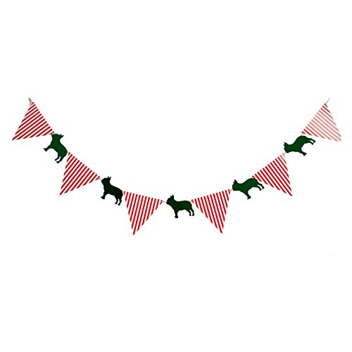 (French bulldog Banners, Bunting & Garlands party flag Playroom Child's Room Decor on Wall)