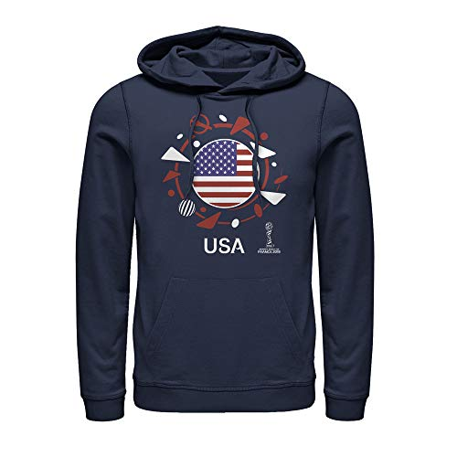Fifth Sun FIFA Women's World Cup France 2019 Men's USA Circle Flag Navy Blue Hoodie