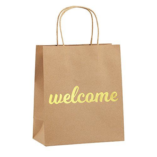 Welcome Bags for Wedding Guests - High Quality Kraft Paper Bags Bulk Perfect as Wedding Welcome Bags for Hotel Guests - Excellent to Present Wedding Favors for - Should We Donate Why