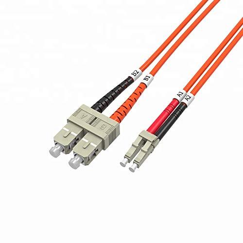 2 Meter Multimode Duplex Fiber Optic Cable (62.5/125) - LC to SC - Orange ()