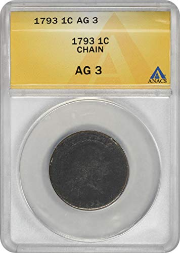 (1793 Large Cent Chain AG03 ANACS )