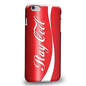 """BESTER Case88 Premium Designs Stay Cool Coke Red Can Protective Snap-on Hard Back Case Cover for Apple iPhone 6 Plus 5.5"""""""
