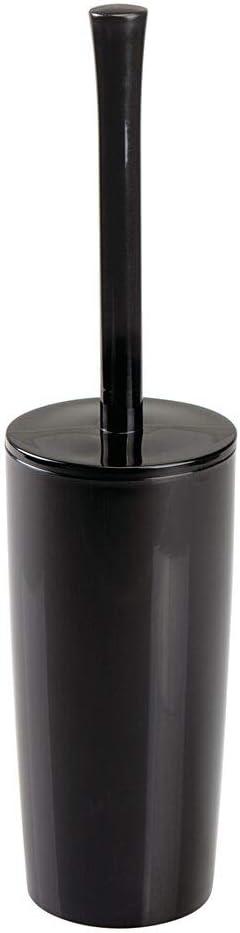 Elegante spazzolino WC in acciaio mDesign Scopino bagno con porta scopino oro rosato Scopino WC ideale per bagno padronale o degli ospiti