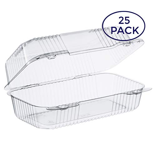 - Dart Clear Hinged Lid Plastic Container 9