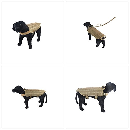 Military Nylon Tactical Dog Training Vest Police Dog Molle Compact Vest Harness Adjustable Packs Coat