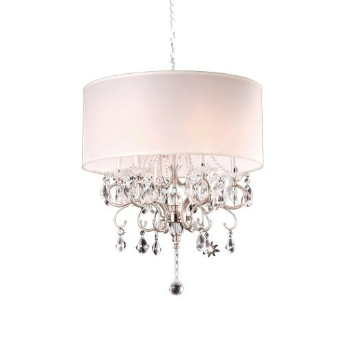 OK-5109h 21-Inch Crystal Silver Chandelier (Room Dimensions Tables Dining)